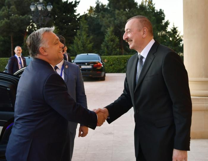 Prezidentlə Viktor Orbanın görüşü olub - FOTOLAR (Yenilənib)