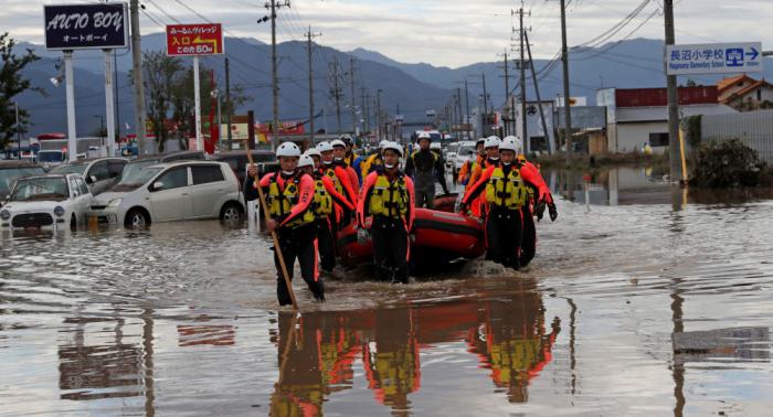 Se eleva el número de muertos por el tifón Hagibis en Japón