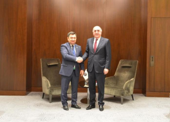 Aserbaidschans Außenminister trifft Präsidenten der Internationalen Türkischen Akademie