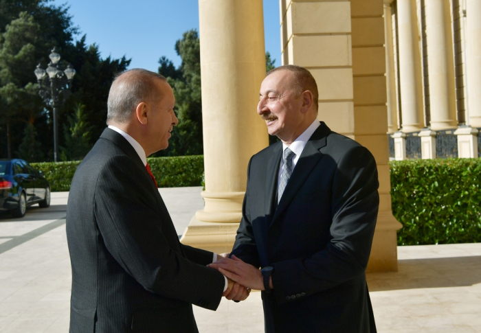 Azerbaijani, Turkish presidents meet in Baku