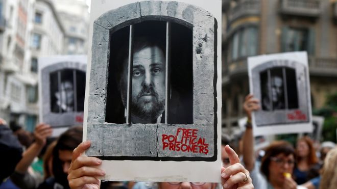 Catalonia leaders jailed for sedition by Spanish court