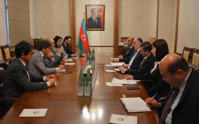 Mammadyarov a reçu une délégation du Sénat italien