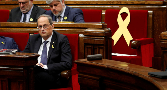 El presidente catalán ofrece una rueda de prensa tras la condena a los políticos independentistas