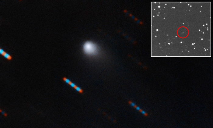 Comet visiting our solar system is