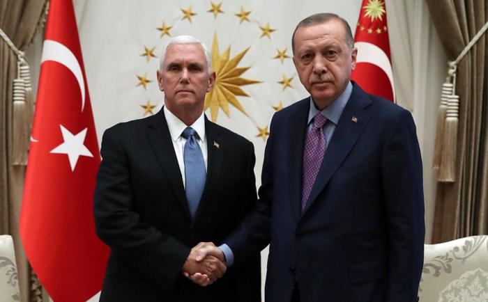 Ərdoğan ABŞ-ın vitse-prezidenti ilə görüşüb - Yenilənib