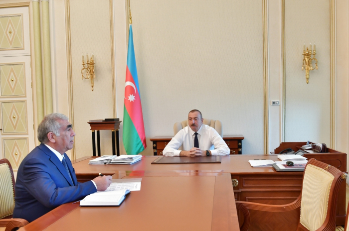 President Ilham Aliyev receives chairman of Board of Directors of Azerbaijan Highway State Agency