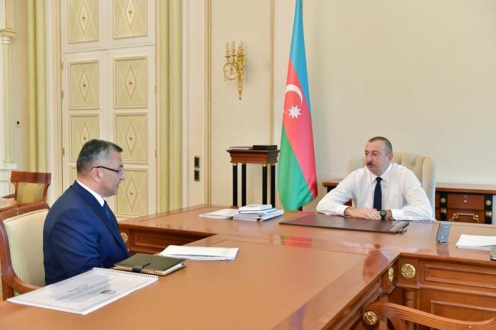 President Ilham Aliyev receives chairman of State Committee for Refugee and IDP Affairs