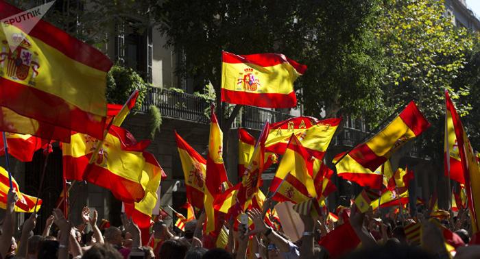 Marcha contra la independencia en Barcelona