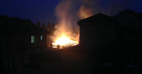 Se incendia un complejo arquitectónico patrimonio de la Unesco en Italia