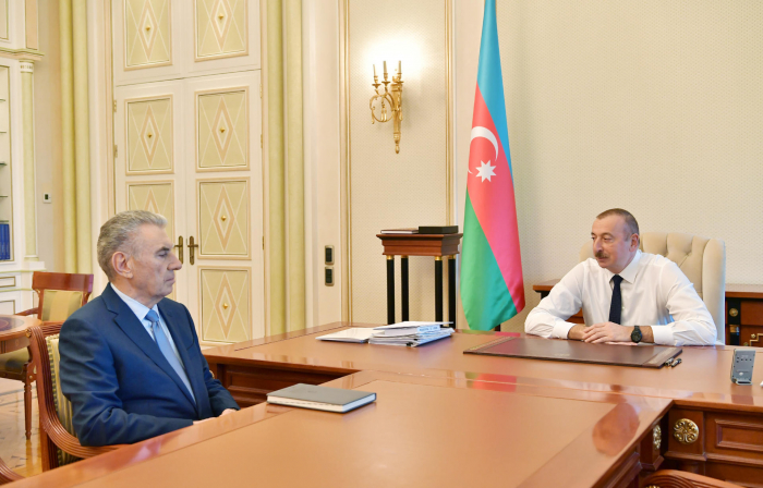 President Aliyev receives Deputy PM Ali Hasanov as he submitted his resignation letter