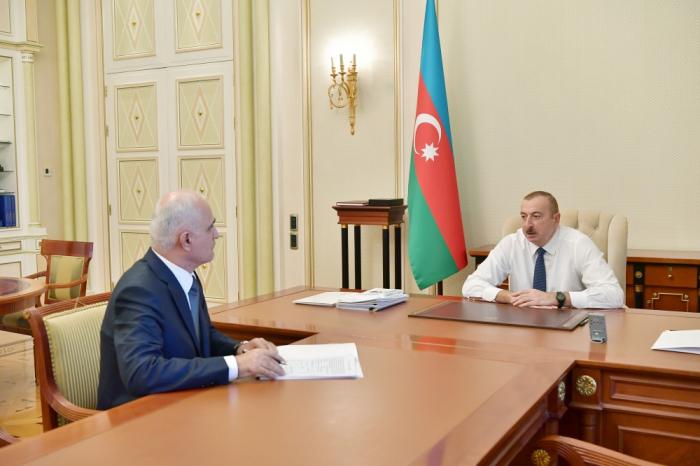 """Prezident Şahin Mustafayevə tapşırıqlar verdi: """"Sizdən ciddi nəticə gözləyirəm"""""""