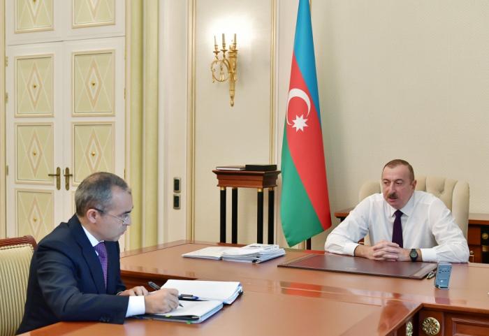 Ilham Aliyev reçoit Mikayil Djabbarov à la suite de sa nomination à un nouveau poste