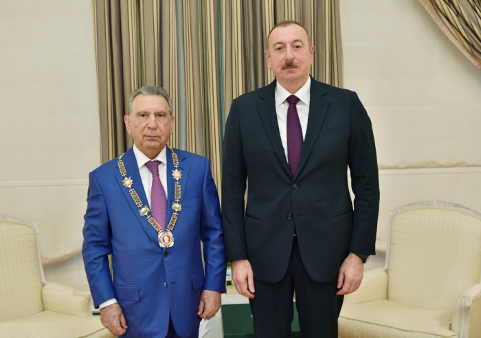 "President Ilham Aliyev receives Ramiz Mehdiyev and presents ""Heydar Aliyev"" Order to him"