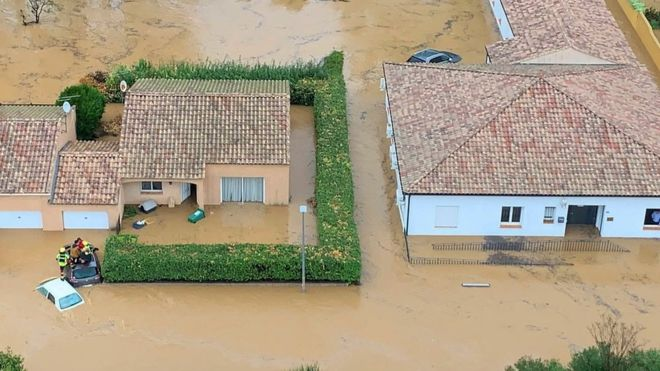 Severe flooding in south of France leaves three dead
