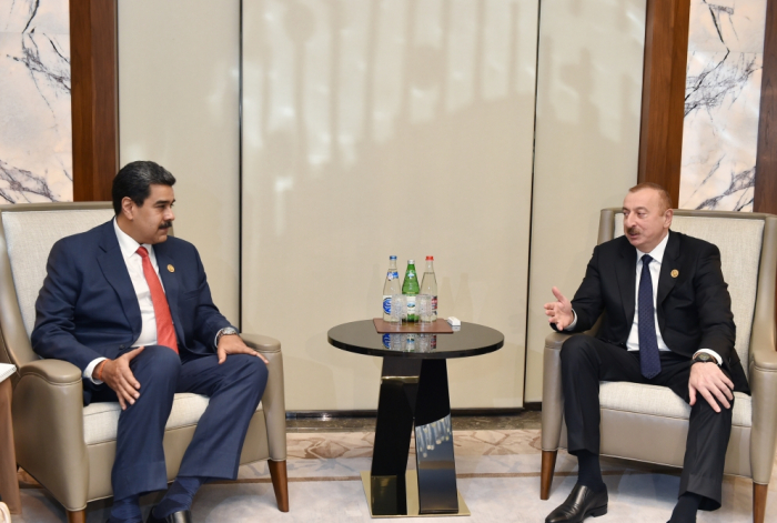 İlham Əliyev Nikolas Maduro ilə görüşüb - FOTO