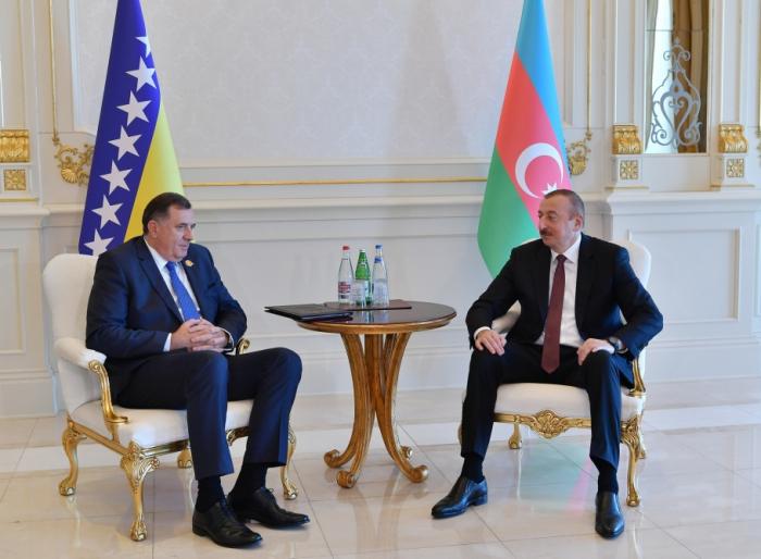 Prezident Milorad Dodik ilə görüşdü - FOTOLAR (Yenilənib)
