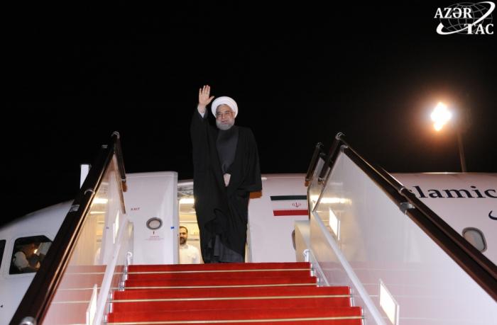 Hassan Rohani achève sa visite en Azerbaïdjan