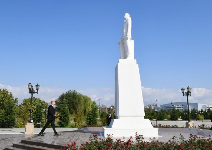 Déplacement du président Ilham Aliyev dans la région d'Aghdach - Mise à jour