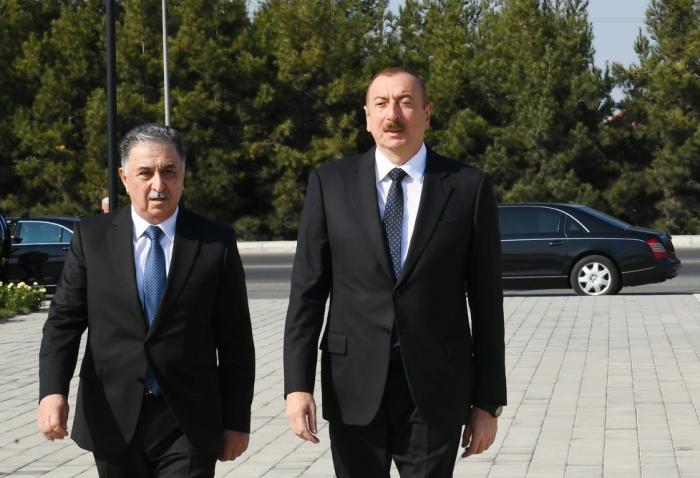 Prezident Ağdaşa səfər edib - FOTO