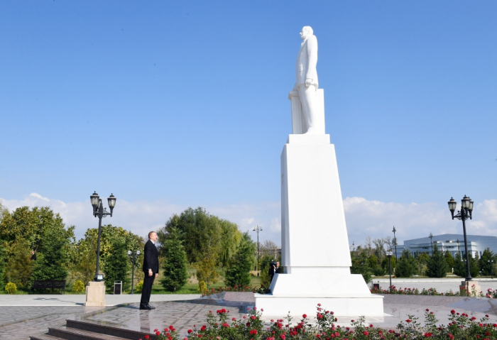 President Ilham Aliyev arrives in Aghdash district for visit - UPDATED