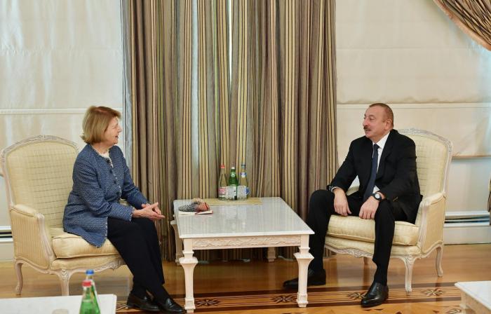 President Ilham Aliyev receives UK PM