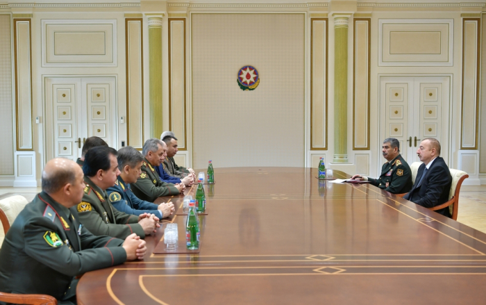 President Ilham Aliyev receives participants of CIS Council of Defense Ministers meeting