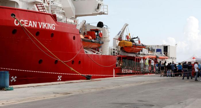 Ocean Viking llega a Italia para desembarcar 104 migrantes-Vídeo