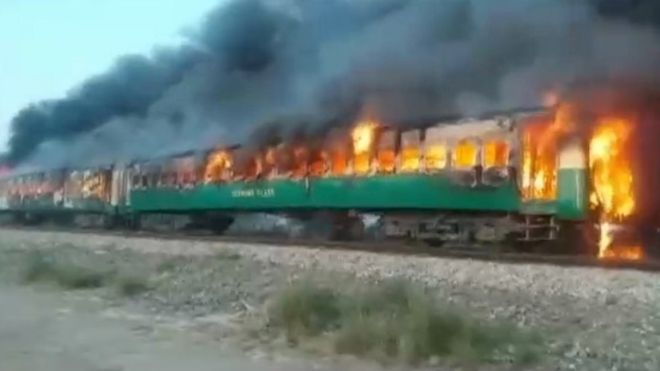 At least 72 killed in Pakistan passenger train fire - UPDATED