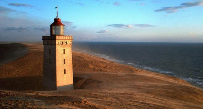 Denmark moves 720-tonne lighthouse to save it from falling into sea