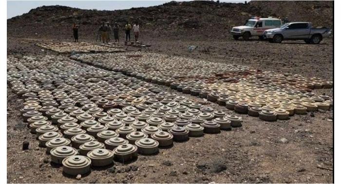 مشروع سعودي يعلن نزع 2482 لغما خلال أسبوع من اليمن