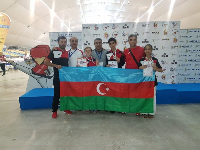 Azerbaijani taekwondo fighters win three medals on first day of European Cadets Championships