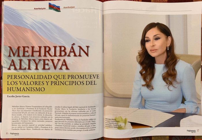 Spanish magazine hails multifaceted activities of Azerbaijani First VP Mehriban Aliyeva