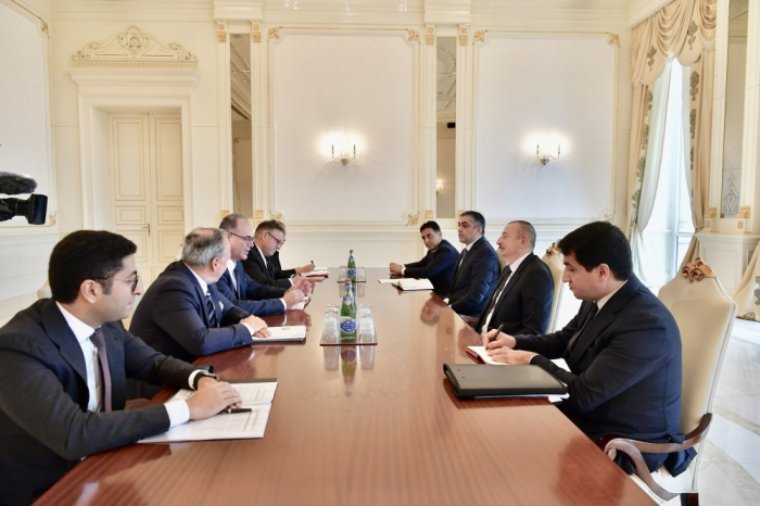 President Ilham Aliyev receives Austrian minister for transport, innovation and technology