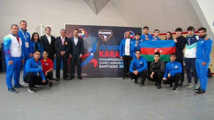 Junior Azerbaijani karate fighters bag four world medals