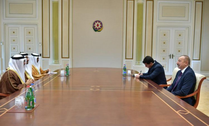 Ilham Aliyev received delegation led by minister of state for foreign affairs of UAE