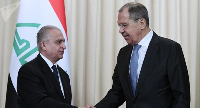 لافروف ووزير الخارجية العراقي يبحثان التعاون في مجال الدفاع والطاقة