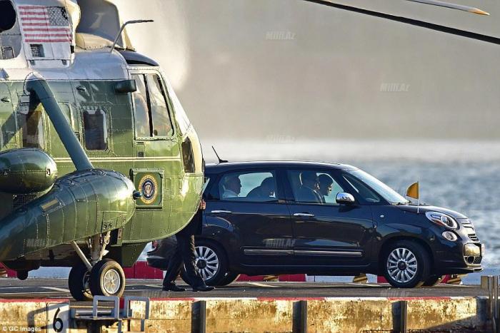 Papanın istifadə etdiyi helikopter qəzaya düşüb