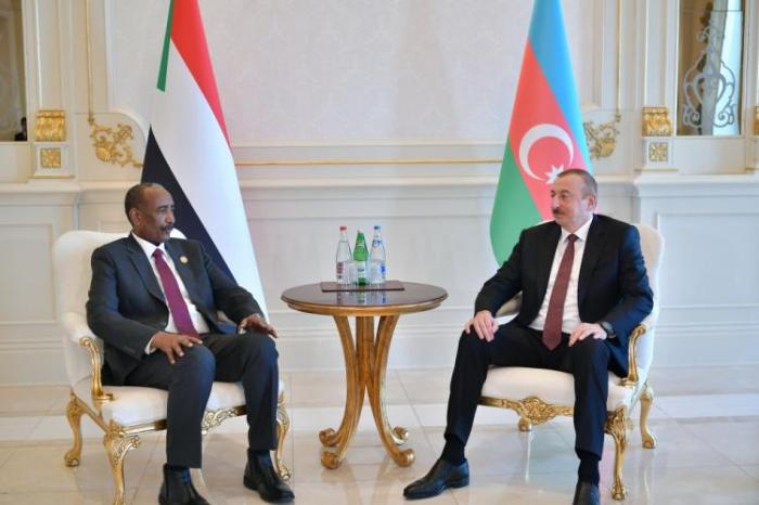 Azerbaijani President meets with President of Sudan