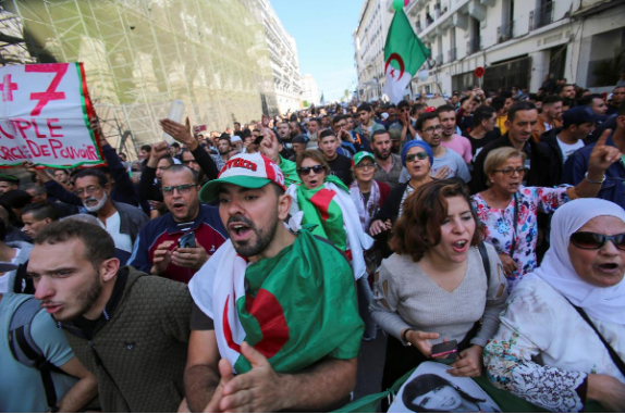 Algerian protesters march on in defiance of