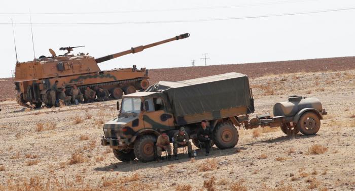 """الدفاع التركية تنشر فيديو لاستهداف شاحنة """"أسلحة للإرهابيين"""""""