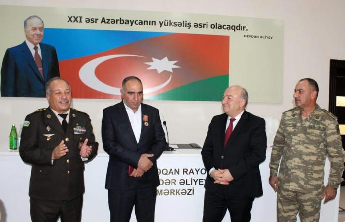Müharibə veteranı medalla təltif olundu