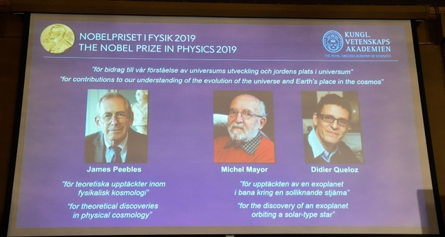 Nobel physics prize awarded to 3 scientists for space research