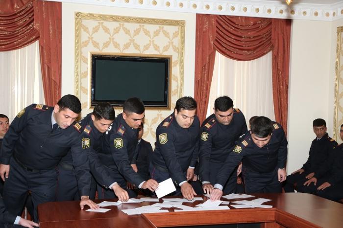 45 nəfər polis orqanlarına qəbul edilib - FOTOLAR