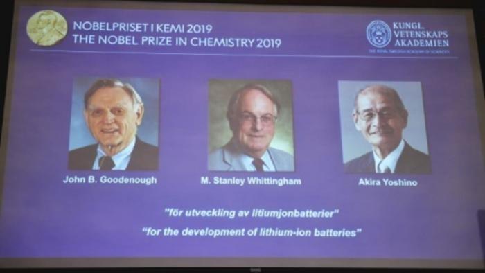 Le Nobel de chimie à un trio américano-britannico-japonais pour les batteries au lithium