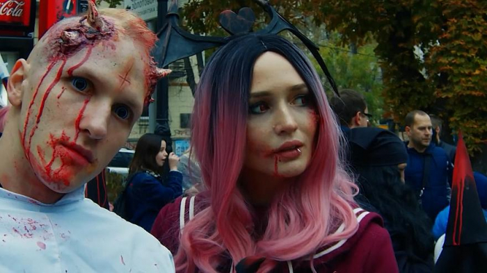 Zombie invasion in Kyiv ahead of Halloween-  NO COMMENT