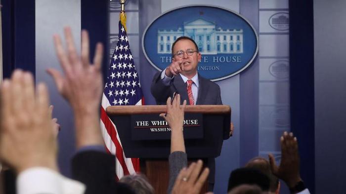 Trumps Stabschef bestätigt zentralen Vorwurf