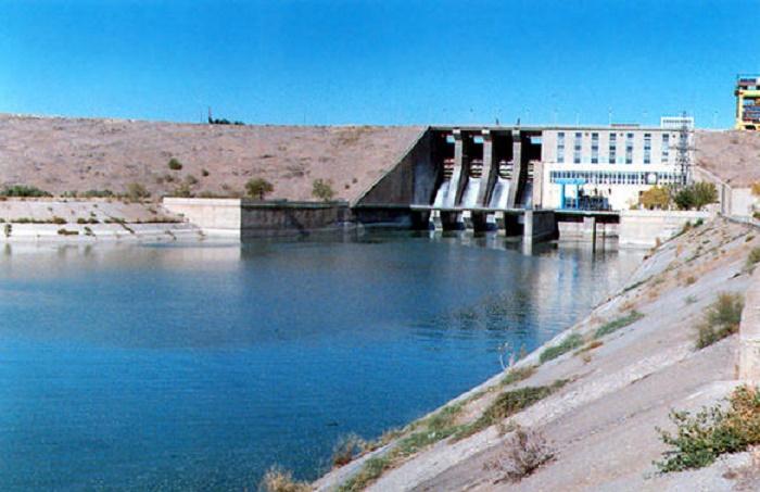 Mingəçevir su anbarında suyun səviyyəsi azalıb