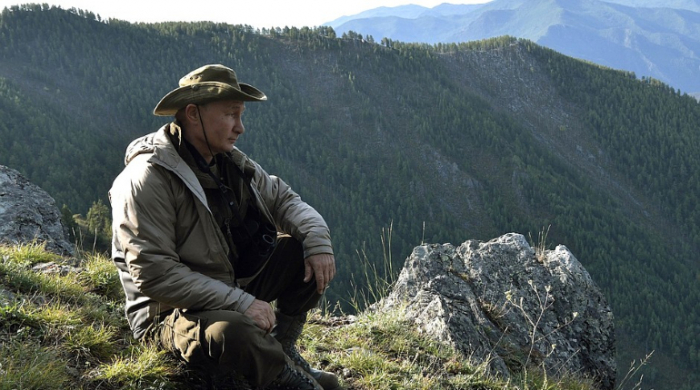 Putin ad gününü təbiətin qoynunda qeyd edir - VİDEO
