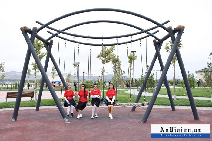 """Cocuq Mərcanlıda salınan """"Qayıdış"""" parkı - FOTOREPORTAJ"""