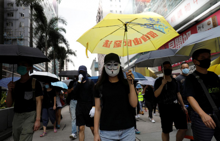 Petrol bombs thrown inside Hong Kong metro station: government